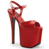 Punainen 18,5 cm Devious TRAMP-709 Fetissi Sandaletit Kengät