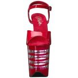 Punainen 20 cm Pleaser FLAMINGO-809LN Korkosandaalit