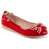 Punainen IVY-09 ballerinat matalat kengät helmi