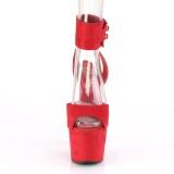 Punainen Keinonahka 18 cm ADORE-791FS korokepohja korkokengät nilkkalenkki