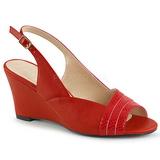 Punainen Keinonahka 7,5 cm KIMBERLY-01SP suuret koot sandaalit naisten