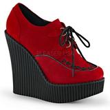 Punainen Keinonahka CREEPER-302 creepers kengät kiilakorot