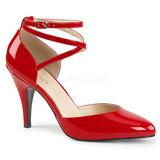 Punainen Kiiltonahka 10 cm DREAM-408 suuret koot avokkaat kengät
