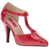 Punainen Kiiltonahka 10 cm DREAM-425 suuret koot avokkaat kengät