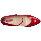 Punainen Kiiltonahka 10 cm DREAM-428 suuret koot avokkaat kengät