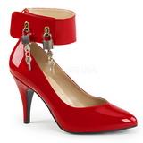 Punainen Kiiltonahka 10 cm DREAM-432 suuret koot avokkaat kengät