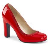 Punainen Kiiltonahka 10 cm QUEEN-04 suuret koot avokkaat kengät