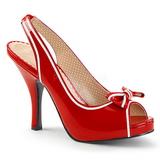 Punainen Kiiltonahka 11,5 cm PINUP-10 suuret koot sandaalit naisten