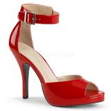 Punainen Kiiltonahka 12,5 cm EVE-02 suuret koot sandaalit naisten