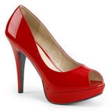 Punainen Kiiltonahka 13,5 cm CHLOE-01 suuret koot avokkaat kengät