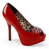 Punainen Kiiltonahka 13 cm PIXIE-17 naisten kengät korkeat korko niiteillä