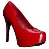Punainen Kiiltonahka 14,5 cm Burlesque TEEZE-06W miesten avokkaat leveään jalkaan