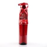 Punainen Kiiltonahka 25,5 cm BEYOND-087 korkeakorkoiset platform avokkaat - korkeat avokkaat