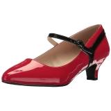 Punainen Kiiltonahka 5 cm FAB-425 suuret koot avokkaat kengät