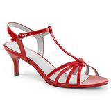 Punainen Kiiltonahka 6 cm KITTEN-06 suuret koot sandaalit naisten