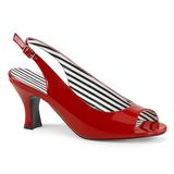Punainen Kiiltonahka 7,5 cm JENNA-02 suuret koot sandaalit naisten