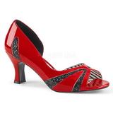 Punainen Kiiltonahka 7,5 cm JENNA-03 suuret koot avokkaat kengät