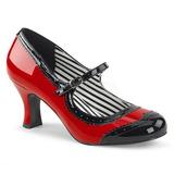 Punainen Kiiltonahka 7,5 cm JENNA-06 suuret koot avokkaat kengät