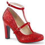 Punainen Kimalle 10 cm QUEEN-01 suuret koot avokkaat kengät