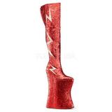 Punainen Kimalle 34 cm VIVACIOUS-3016 Reisisaappaat varten Drag Queen