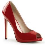 Punainen Lakatut 13 cm SEXY-42 klassiset avokkaat kengät naisten
