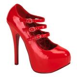 Punainen Lakatut 14,5 cm Burlesque TEEZE-05 naisten kengät korkeat korko