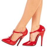 Punainen Lakatut 15 cm DOMINA-415 Pumps Naisten Kengät