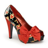 Punainen Lakka 11,5 cm BETTIE-13 Platform Avokärkinen Kengät