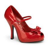 Punainen Lakka 12 cm CUTIEPIE-08 Platform Avokärkinen Kengät