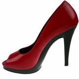 Punainen Lakka 12 cm FLAIR-474 Platform Avokärkinen Kengät