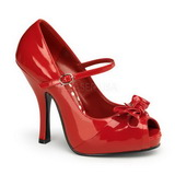 Punainen Lakka 12 cm retro vintage CUTIEPIE-08 Platform Avokärkinen Kengät