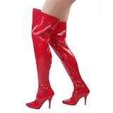 Punainen Lakka 13 cm SEDUCE-3000 overknee pitkät saappaat