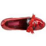 Punainen Lakka 14,5 cm Burlesque BORDELLO TEEZE-01 Platform Avokkaat Kengät