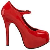Punainen Lakka 14,5 cm Burlesque BORDELLO TEEZE-07 Platform Avokkaat Kengät