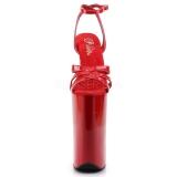 Punainen Lakka 25,5 cm Pleaser BEYOND-012 Platform Korkosandaalit