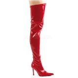 Punainen Lakka 9,5 cm LUST-3000 overknee pitkät saappaat