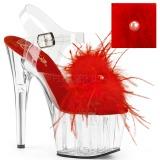 Punainen Marabou Höyhenet 18 cm ADORE-708MF tankotanssi kengät