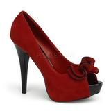 Punainen Mokkanahka 13,5 cm LOLITA-10 Platform Avokärkinen Kengät