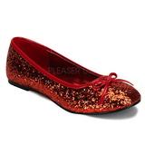 Punainen STAR-16G kimallus ballerina kengät naisten matalat