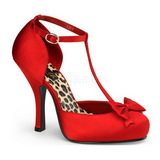 Punainen Satiini 12 cm retro vintage CUTIEPIE-12 Naisten kengät avokkaat