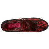 Punainen Satiini 14,5 cm Burlesque TEEZE-07L Naisten Avokkaat Kengät Platform