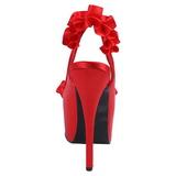 Punainen Satiini 14,5 cm Burlesque TEEZE-56 Korkeakorkoiset Kengät