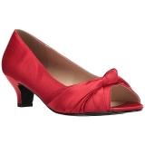 Punainen Satiini 5 cm FAB-422 suuret koot avokkaat kengät