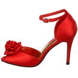 Punainen Satiini 9,5 cm ROSA-02 Naisten Sandaletit Korkea