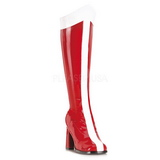 Punainen Valkoinen 8 cm GOGO-305 Korkeat Saappaat Naisten