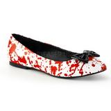 Punainen Valkoinen VAIL-20BL gootti ballerina kengät matalat kengät