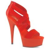 Punainen joustava nauha 15 cm DELIGHT-669 korokepohjaiset pleaser kengät