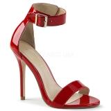Punaiset 13 cm Pleaser AMUSE-10 naisten korkosandaalit