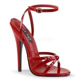 Punaiset 15 cm Devious DOMINA-108 naisten korkosandaalit