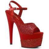 Punaiset 18 cm ADORE-709-2G kimallus platform sandaalit naisten